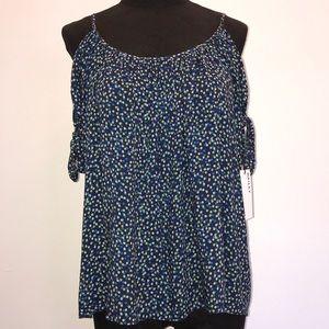 NWT Bailey/44 blue floral print blouse